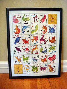 Arabic Alphabet Animal Poster