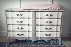 Gray and White French Provincial Dresser / by TheLacyPeacock