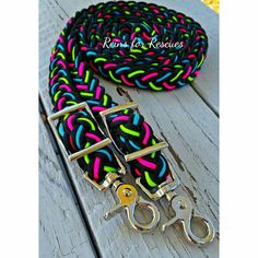 Black Adjustable Riding Reins with Turquoise, Lime Green & Hot Pink - Horses - Equestrian Boots, Equestrian Outfits, Equestrian Style, Barrel Racing Tack, Types Of Horses, Horse Supplies, Horse Tack, Horse Boots, Horse Gear