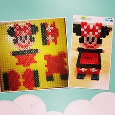 3D Minnie Mouse box perler beads by rupina99