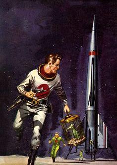 Ed Valigursky - Plague Ship, 1964. / The Science Fiction Gallery #illustration #vintage #scifi