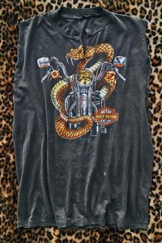 1989 Harley Rattlesnake Thin 'N Faded Tee