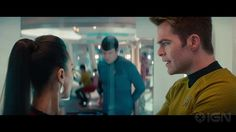 (I don't know if this clip is working properly? But you can follow the link. Adorable scene.) I love how Kirk, at first, is trying to be a good, quietly frustrated captain, but the moment Uhura starts complaining he turns into the concerned/very interested best friend. I'm not emotional right now.