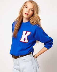 Johann Earl Letterman Sweatshirt | wish it were autumn here, and we could layer!