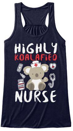 Hi Ghly Koala Fi Eo Nurse Women's Tank Top Front