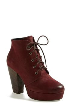 Free shipping and returns on Steve Madden 'Raspy' Platform Bootie at Nordstrom.com. A chunky stacked heel and platform boost the modern appeal of a vintage-inspired lace-up bootie cut from weathered leather. Stay a step ahead in Steve Madden's trend-leading styles and easy-to-wear silhouettes. Inspired by rock and roll and fused with a jolt of urban edge, Madden creates products that are innovative, sometimes wild and always spot-on-chic.