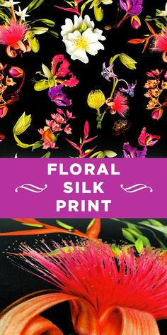 Colorful Photorealistic Floral Printed Silk Blend #Apparel #Italian #Flowers