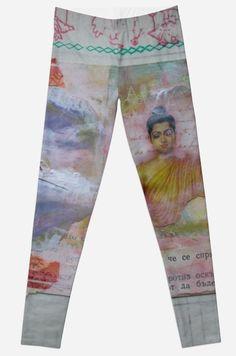 Buddha Collage Legging by JUSTART on Redbubble