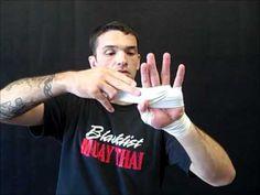KRU Muay Thai hand wrapping