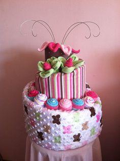 Topsy Turvy Diaper Cake