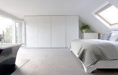 A stylish loft bedroom by Loft Conversion Layout, Loft Conversion Gallery, Loft Conversion Bedroom, Loft Conversions, Attic Conversion, Bungalow Conversion, Loft Room, Bedroom Loft, Home Bedroom