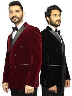 Robelli Men/'s Velvet Single Breasted Slim Fit Blazer Wedding Jacket Royal Blue