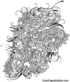 354 Best Doodles To Color Images On Pinterest Coloring Books