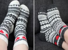 Sweet things: Morsiamen ja sulhasen sukat Knitting Videos, Knitting Charts, Knitting Socks, Hand Knitting, Knitting Patterns, Diy Crochet And Knitting, Sock Crafts, Wool Socks, Tapestry Crochet