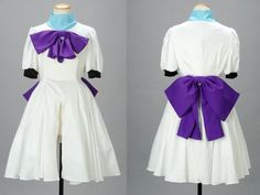 White Lovely Bowknot When They Cry Cosplay Rena Ryuugu Costume