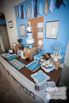 First Birthday Office Party with So Many Adorable Ideas via Kara's Party Ideas | KarasPartyIdeas.com #LittleMan #Mustache #Party #Ideas #Supplies (12)