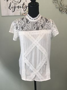 f93a765ff Sugar Pine Boutique · Products · Lace T-Shirt Top