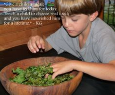 Kale for Kids Part 1 – a fun and delicious way to add Kale to our children's diet