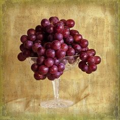 Grapes and Crystal Stil Life by Sandra Foster