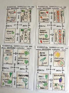 idea for a vegetable garden layout