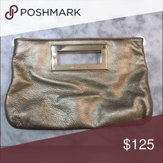 Michael Kors Gold Clutch Gently used Michael Kors Gold Clutch. Great for weddings and formal events. Michael Kors Bags Clutches & Wristlets