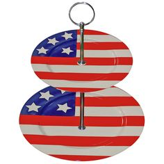 Patriotic Plate 2 Tiered Stand
