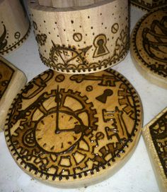 Work in Progress: Steampunk Henna Designs on Wood Boxes. Henna Party, Real Tattoo, Wood Boxes, Henna Designs, Steampunk, Paint, Henna Art Designs, Wooden Crates, Picture Wall