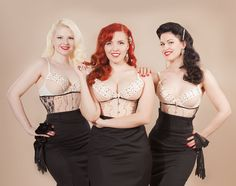 The Tease Queens; Cherrie A. Dorable, Olivia Rouge and LouLou D'vil