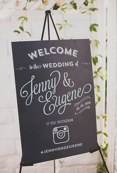 Brides.com: 25 Creative Wedding Welcome Signs Sign for the ceremony
