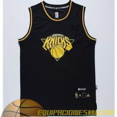 Camiseta NBA Anthony  7 2014-15 Negro Oro Moda a60b02a6597