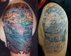 Car Tattoos | Designs, Ideas & Inspiration.  Car tattoos represent the love affair with the automobile which is as old as the invention of the automobile.  They have been referred to by women as their husband's mistress; and they weren't joking around