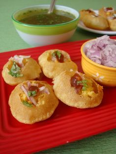 An Indian street food, Pani Poori, one of the most amazing foods I had in India. A bit of work, but worth it!