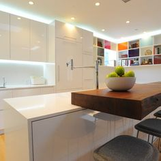 Modern Kitchen- love the material combo
