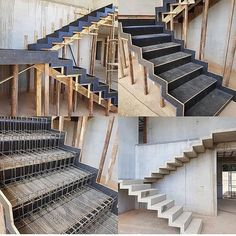 Concrete Stairs Exterior Staircases 60 Ideas For 2019 Railing Design, Staircase Design, Stair Elevator, Concrete Staircase, Escalier Design, Stair Detail, Stairs Architecture, Modern Stairs, Floating Stairs