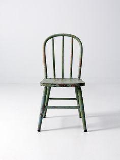 antique wood children's chair