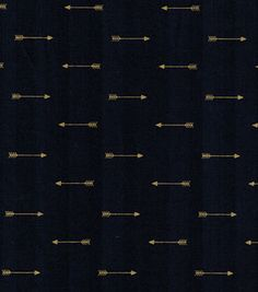 Keepsake Calico™ Cotton Fabric-Arrows On Navy With Gold Metallic