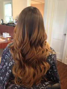 This is how ombre should look. Totally seamless and soft with graduation from darkest to lightest in the softest way going from retouch to tip of hair strands. Check out my other photos of my hair creations. Colormelt ecaille tortoiseshell Hair painting freehand highlights freelights melt technique