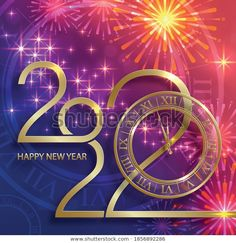 New Eve, Happy New Year Wallpaper, Nouvel An, Fireworks, Wish, Calendar, Neon Signs, Anul Nou, Illustrations