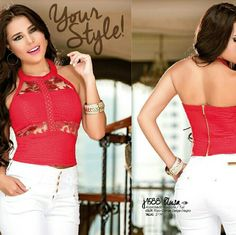 Gorgeous Padded Sexy Top Gorgeous Sexy top  Limited quantities   Padded bra   Excellent quality   NEW with tags   Beautiful red top   Unique style and fit   Made In Colombia Tops Blouses