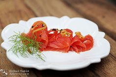 Gravlax from Norway--delicious! (I made it & thought it was quite tasty. My Norwegian friend loved it.)
