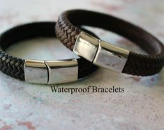 ALL weather LEATHER BRACELET - Personalised Leather Bracelet for Men - Gift For Men
