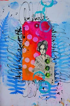 Color pop...using my All the Gals stamps set Dina Wakely