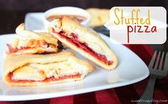 Stuffed Pizza - This looks so yummy for dinner!