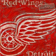 """Red Wings"" - Detroit is the closest thing to a modern era dynasty. Sports Art, Sports Teams, My Favorite Color, My Favorite Things, Detroit Red Wings, Love Art, Art Pieces, Nhl, Hockey"