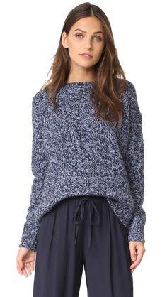 VINCE Chunky Pullover. #vince #cloth #dress #top #shirt #sweater #skirt #beachwear #activewear