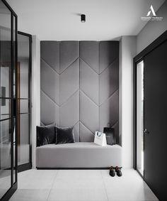 Home Room Design, Dream Home Design, House Design, Hallway Decorating, Interior Decorating, Interior Design, Upholstered Wall Panels, Home Entrance Decor, Home Decor