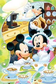 Minnie and Mickey with Goofy Mickey Mouse Y Amigos, Walt Disney Mickey Mouse, Mickey Mouse And Friends, Disney Kunst, Arte Disney, Disney Art, Minnie Mouse Pictures, Disney Pictures, Mickey Mouse Wallpaper