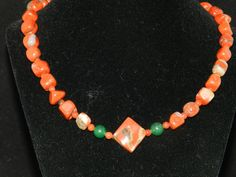 FT673  Red Jasper Beaded Necklace by KarinsForgottenTreas on Etsy