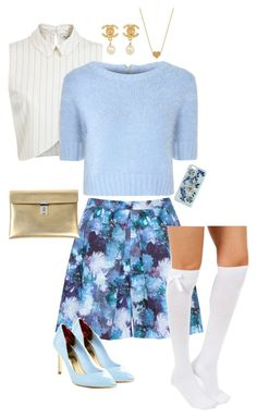 Scream queens: fashion by camillefelldownawell on Polyvore featuring Glamorous, Miss Selfridge, Almari, Ted Baker, Golden Goose, Chanel, Minnie Grace and Dolce&Gabbana