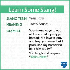 Want to learn a fun slang term that's totally sarcastic? (And if you don't know,  something is sarcastic when what it means is the exact opposite of what it says.)